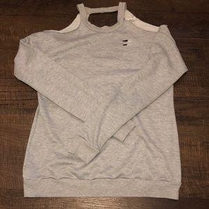 Grey Cut out sweatshirt